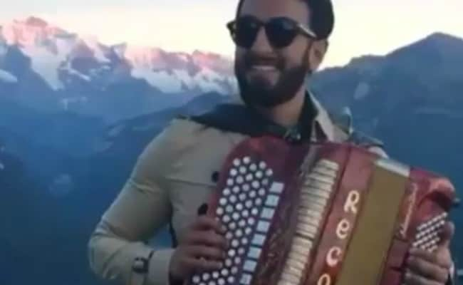 What Happens In Ranveer Singh's Funny Video Shot During Swiss Holiday
