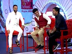 Watch LIVE: #SupportMySchool Telethon with Sourav Ganguly, Ranveer Singh