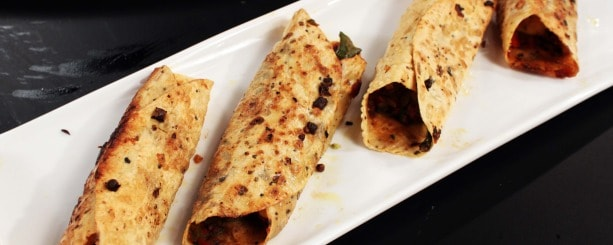 Simple cooking, fancy looking: Stuffed papad