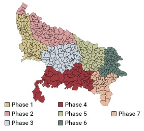Uttar Pradesh Election Polling Schedule