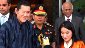 Video : Bhutan's first couple in India