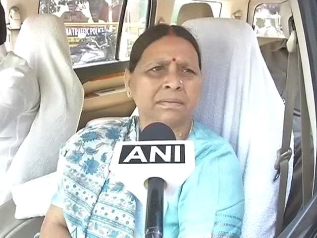 Video : Ram Kripal Yadav's exit will have no impact on RJD: Rabri Devi