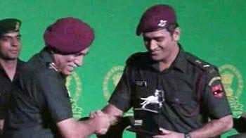 Video : प्रादेशिक सेना में लेफ्टिनेंट कर्नल बने धोनी-बिंद्रा