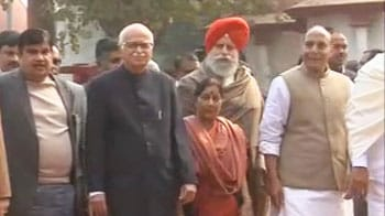 Video : BJP top rung meets President to complain about Lokpal fiasco