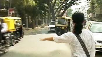 Video : Taming Bangalore's traffic: SMS-es welcome against autos