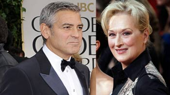 Video : Clooney, Meryl Streep and The Artist: Golden Globe winners