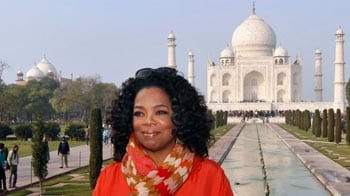 Oprah visits the Taj