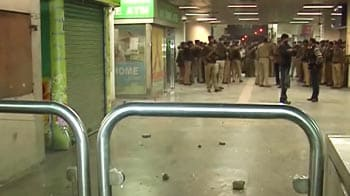 Video : Delhi metro station vandalised after 2 men allegedly harass woman, her fiance