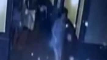 Video : CCTV footage of people running out of building after tremors felt