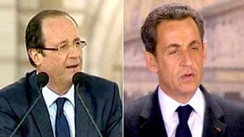 Video : French presidential candidates Sarkozy, Hollande face off