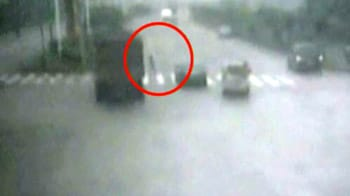 Video : Child narrowly escapes death from under truck