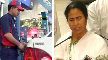 Video : Petrol prices go up by Rs. 6.28 plus taxes, Mamata says she was not consulted