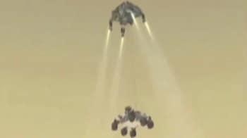 Video : अमेरिकी 'क्यूरियॉसिटी' यान मंगल पर उतरा