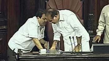 Video : Caught on camera: Minister whispering instructions to Rajya Sabha's Deputy Chairperson