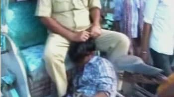 Video : Police brutality caught on camera in Bihar, man dragged by his hair