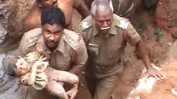 Video : Miraculous escape for three-year-old who fell into borewell