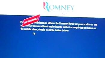 Video : Democrats launch website mocking Romney's tax plan