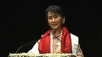 Video : I feel partly a citizen of India: Suu Kyi at LSR college