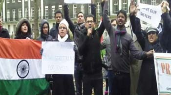 Video : London protests for India's 'Amanat'
