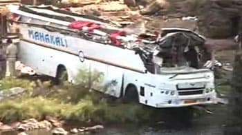 Video : 37 dead as bus travelling from Goa to Mumbai falls off bridge