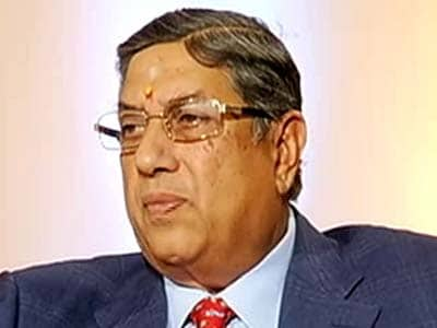 Video : I'm not elected like a politician is, so where is question of resigning: N Srinivasan