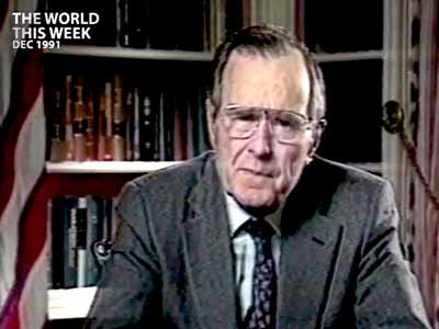 Video : The World This Week: The President's feeling blue (Aired: December 1991)