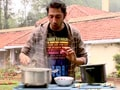 Aditya cooks Mutton Masala in Ooty