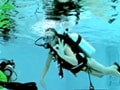 Sarah-Jayne does diving in Dubai