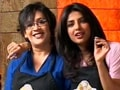Priyanka, Aneesha get into some pizza-making