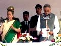 Video : Bahuguna sworn-in as Uttarakhand Chief Minister; Harish Rawat rebels