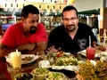 Rocky, Mayur enjoy a sumptuous meal in Surat