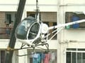 Video : How Bangalore chopper was brought down from the roof of building