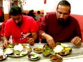 Rocky, Mayur enjoy the  splendid cuisine of Guwahati