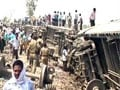 Video : Doon Express derails near Jaunpur in Uttar Pradesh; 5 killed