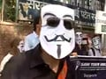 Video: 'Anonymous' protests in Delhi against Internet censorship