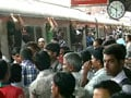 Video : Angry crowds at Mumbai's Churchgate station, trains stalled by strike