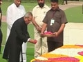 Video : Pranab visits Rajghat before swearing-in