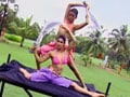Hunt For The Kingfisher Calendar Girl 2013: The yoga combat task