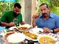 The Highwaymen enjoy traditional Kerala platter
