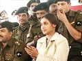 Rani Mukherji visits jawans at Pokhran (Aired: May 2004)