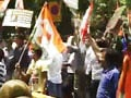 Video : Congress workers protests against BJP attack on PM