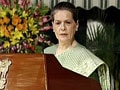 Video : Sonia Gandhi backs PM, slams Opposition