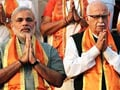 What happened at Narendra Modi's meeting with LK Advani today