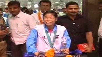 Video : Indian women boxers return from Kazakhstan