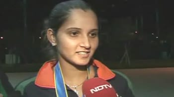 Video : Happy to be leaving with 2 medals: Sania