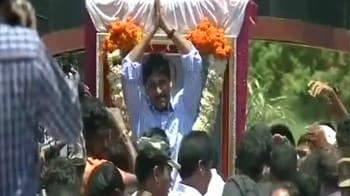 Video : Rising son? Huge reception for Jagan's yatra