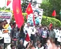 Video: Protests in the South over Rajapaksa's visit