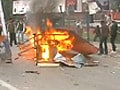Video : Lathicharge on farmers in Lucknow