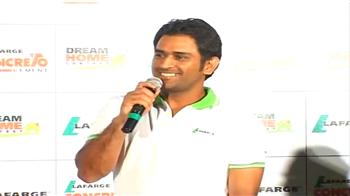 Video : Dhoni's dream day & dream house!