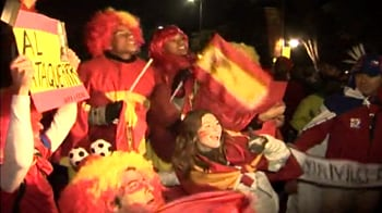 Video : Spanish fans upbeat